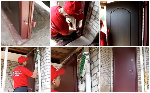 Навешивание дверного полотна