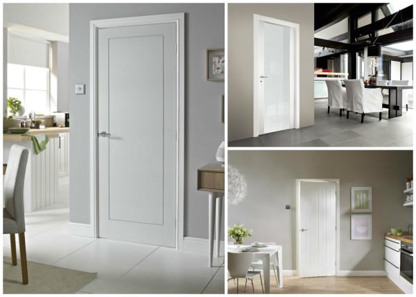Белые двери в современном интерьере