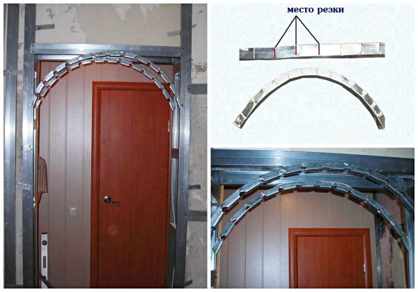 Создание каркаса арки из профиля