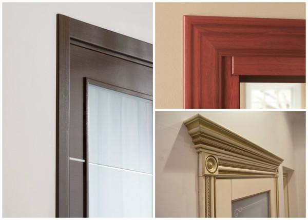 Разновидности конфигураций дверных наличников