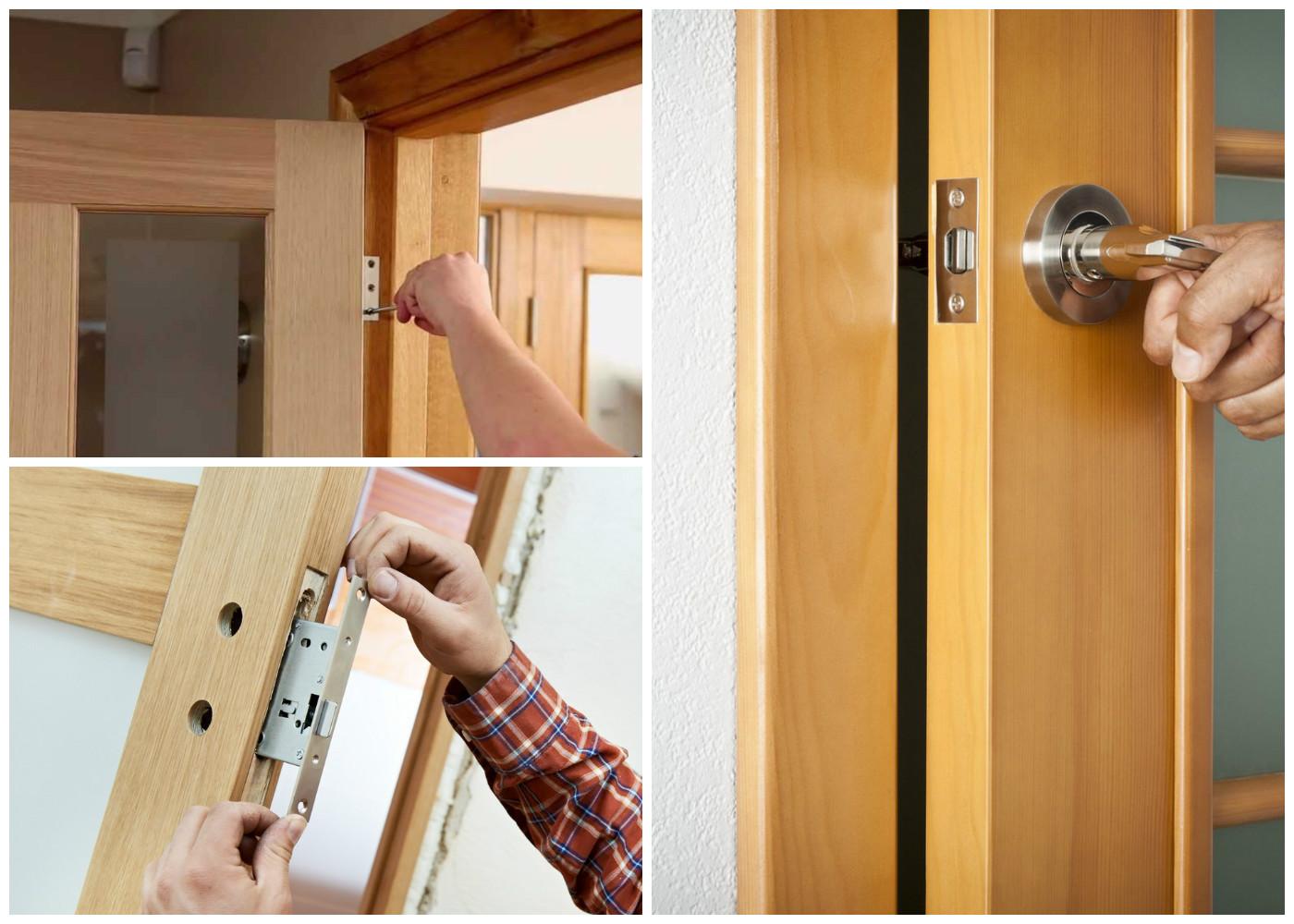 Как сделать петли в дверном полотне