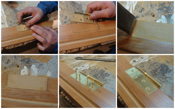 Врезка петель в деревянную дверь